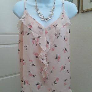 Beautiful flowy light pink blouse